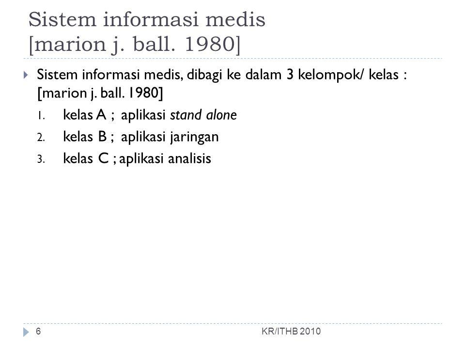 Sistem informasi medis [marion j. ball. 1980]